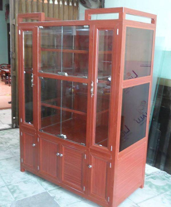 Một số mẫu tủ nhôm kính trưng bày 12