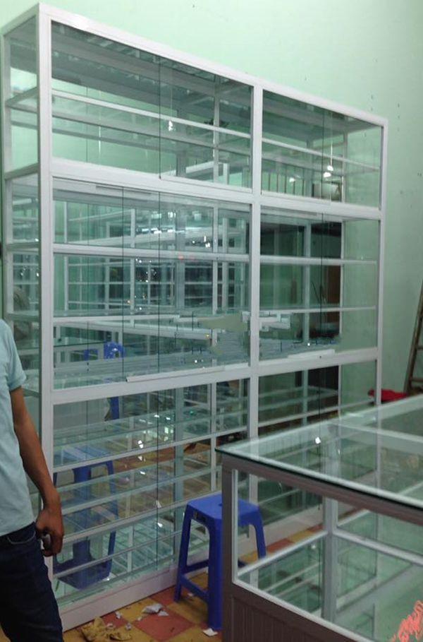Một số mẫu tủ nhôm kính trưng bày 14