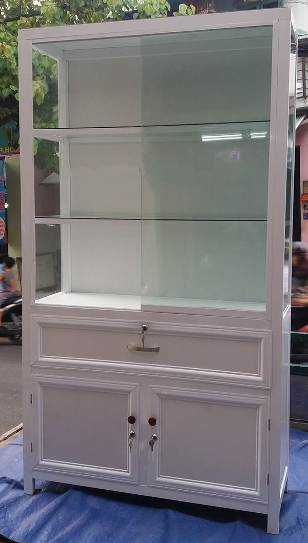 Một số mẫu tủ nhôm kính trưng bày 15