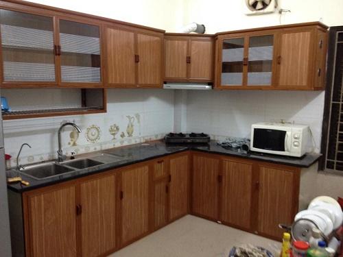 Hình ảnh mẫu tủ bếp nhôm kính 2