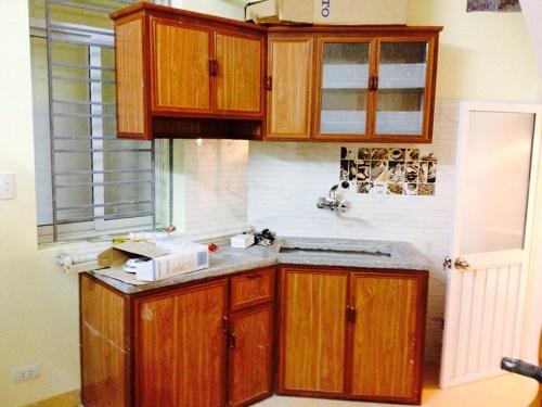 Hình ảnh mẫu tủ bếp nhôm kính 1