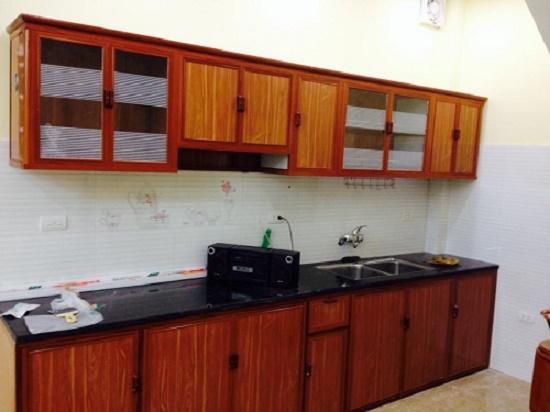 Hình ảnh mẫu tủ bếp nhôm kính 4
