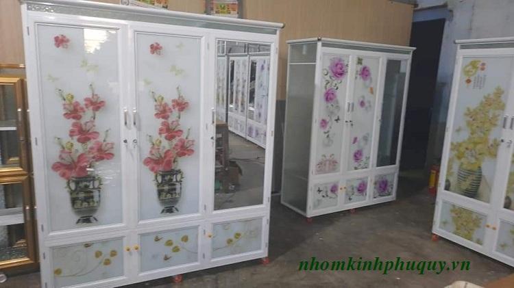 Tủ nhôm kính đựng quần áo đẹp giá rẻ 1
