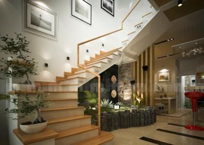 Chức năng và ưu điểm của cầu thang kính 1
