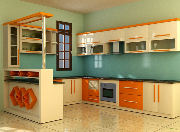 Mẫu kính ốp bếp màu 6