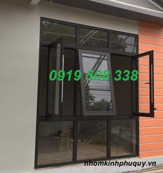 Một số mẫu cửa sổ mở hất nhôm PMA 3