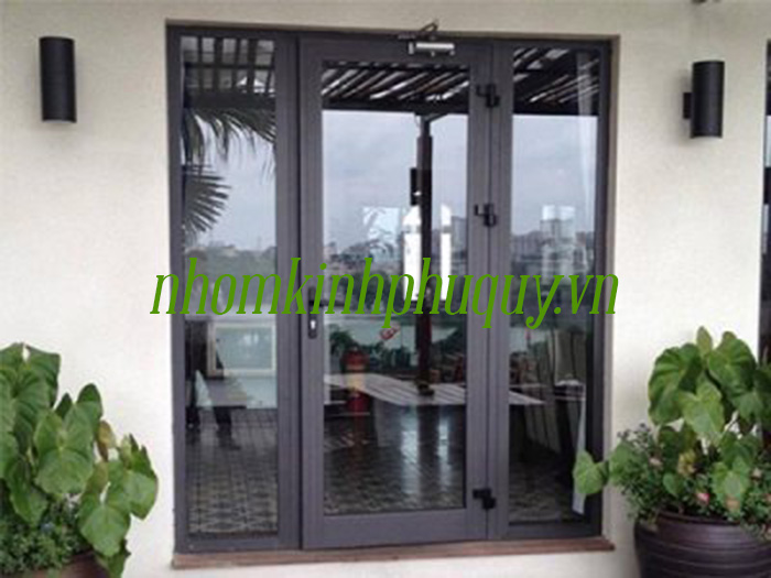 Cửa nhôm Việt Pháp 1 cánh 2 vách bên( áp dụng cho cửa đi hoặc cửa sổ). 1