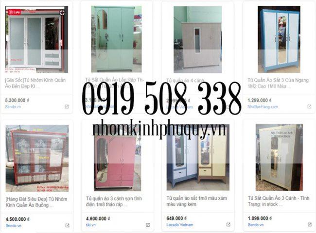 Giá tủ nhôm đựng quần áo trên thị trường! 1