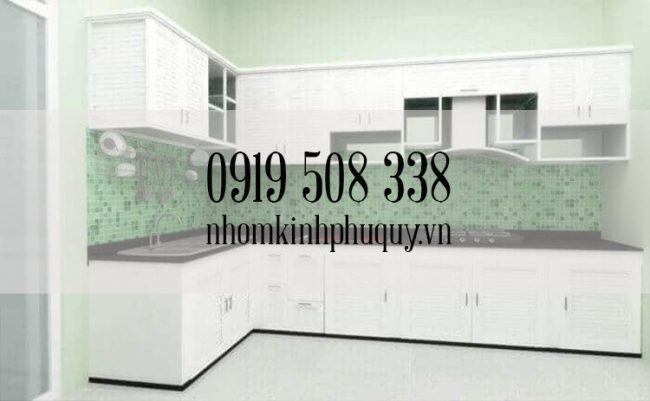 Đặc điểm của tủ bếp nhôm kính treo tường 1