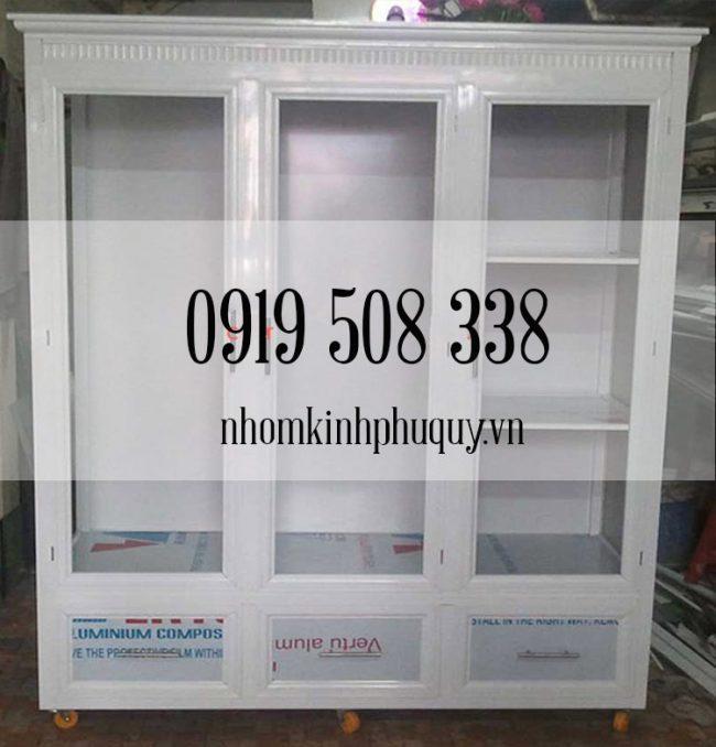 Giới thiệu mẫu tủ nhôm đựng quần áo đẹp 2