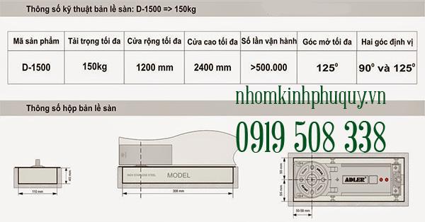 Bản lề sàn Adler D-1500 1