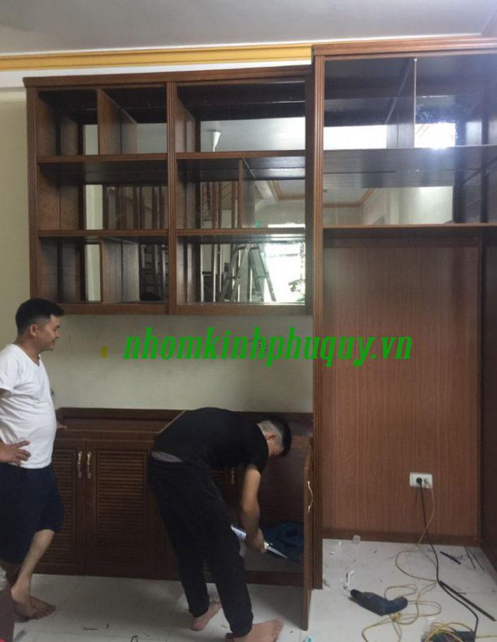Lắp đặt tủ bếp nhôm Omega cao cấp uy tín tại Phú Quý 1