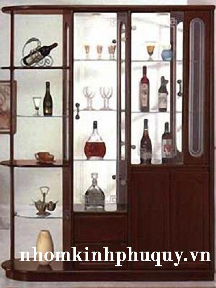 Tủ rượu nhôm kính - đẹp - sang - tiện 1