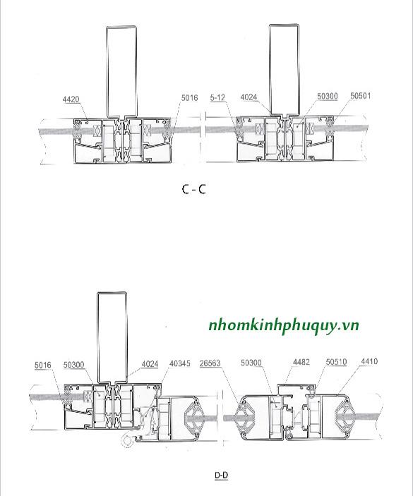 Catalog nhôm Việt Pháp Hệ 4400 11