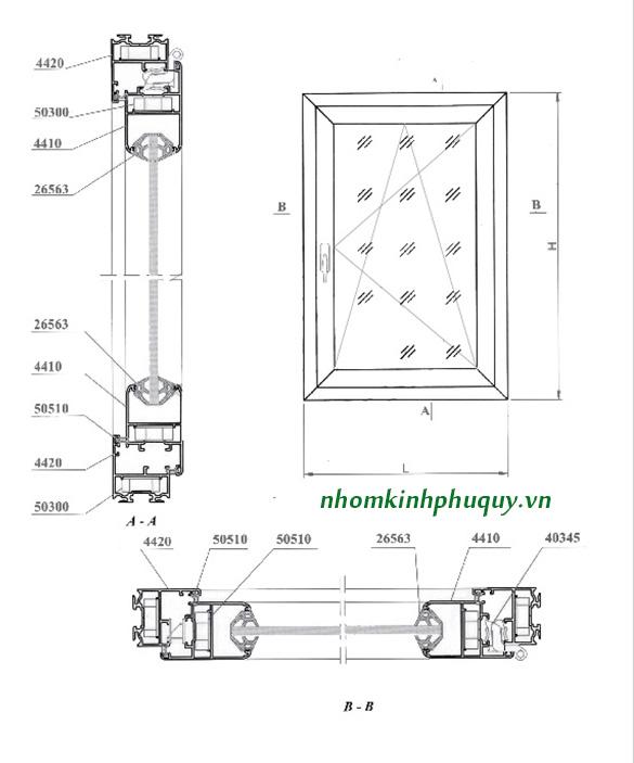 Catalog nhôm Việt Pháp Hệ 4400 6