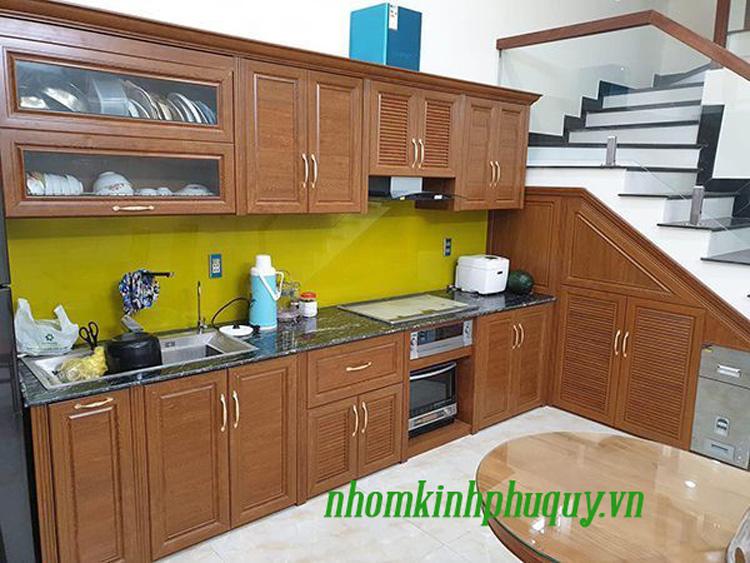 Tủ bếp nhôm Omega 2