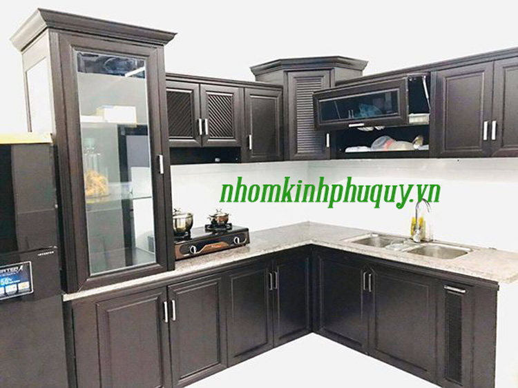 Tủ bếp nhôm Omega 1
