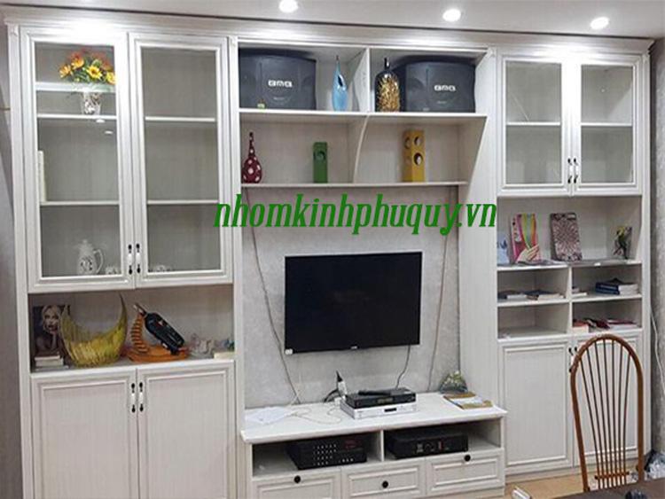 Tủ kệ tivi, nhôm nội thất Omega 2