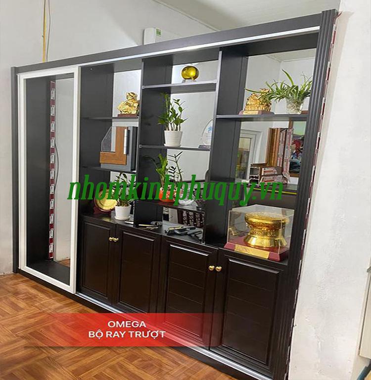 Tủ trưng bày nhôm nội thất Omega 1