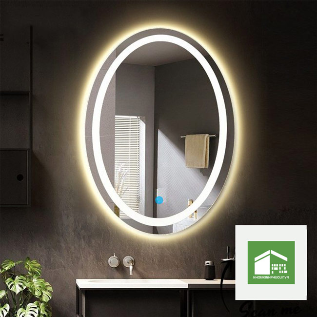 Gương led Oval - nội thất không gian phòng hiện đại 1
