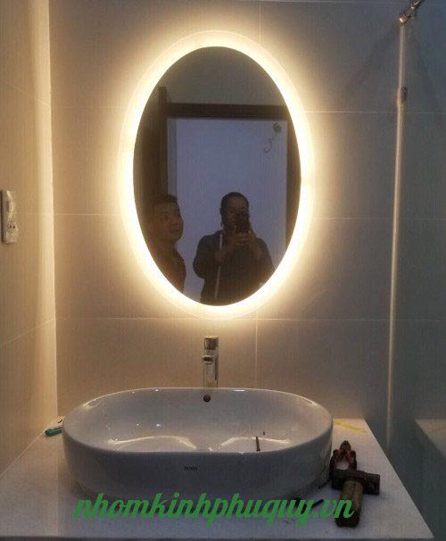 Gương led Oval cảm ứng 1