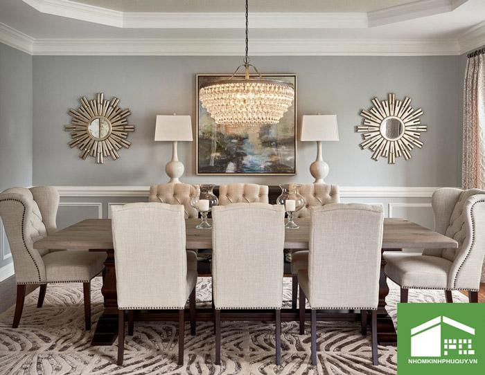 Vị trí lắp đặt gương trang trí phòng ăn tốt nhất! 1